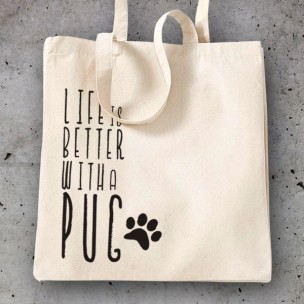 Bolsa Life better with Pug