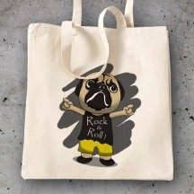 Bolsa Pug Rock and Roll