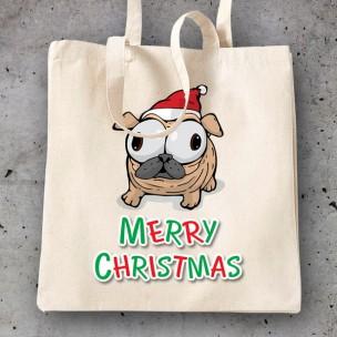 Bolsa Pug Christmas
