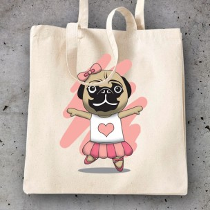 "Bolsa Pug Rock and Roll ""ella"""