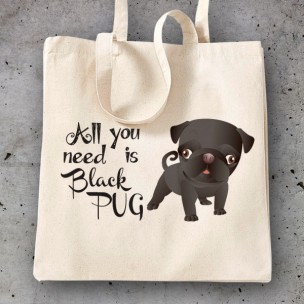 All you need is black pug_1