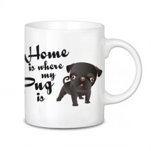 Home is where my black pug is